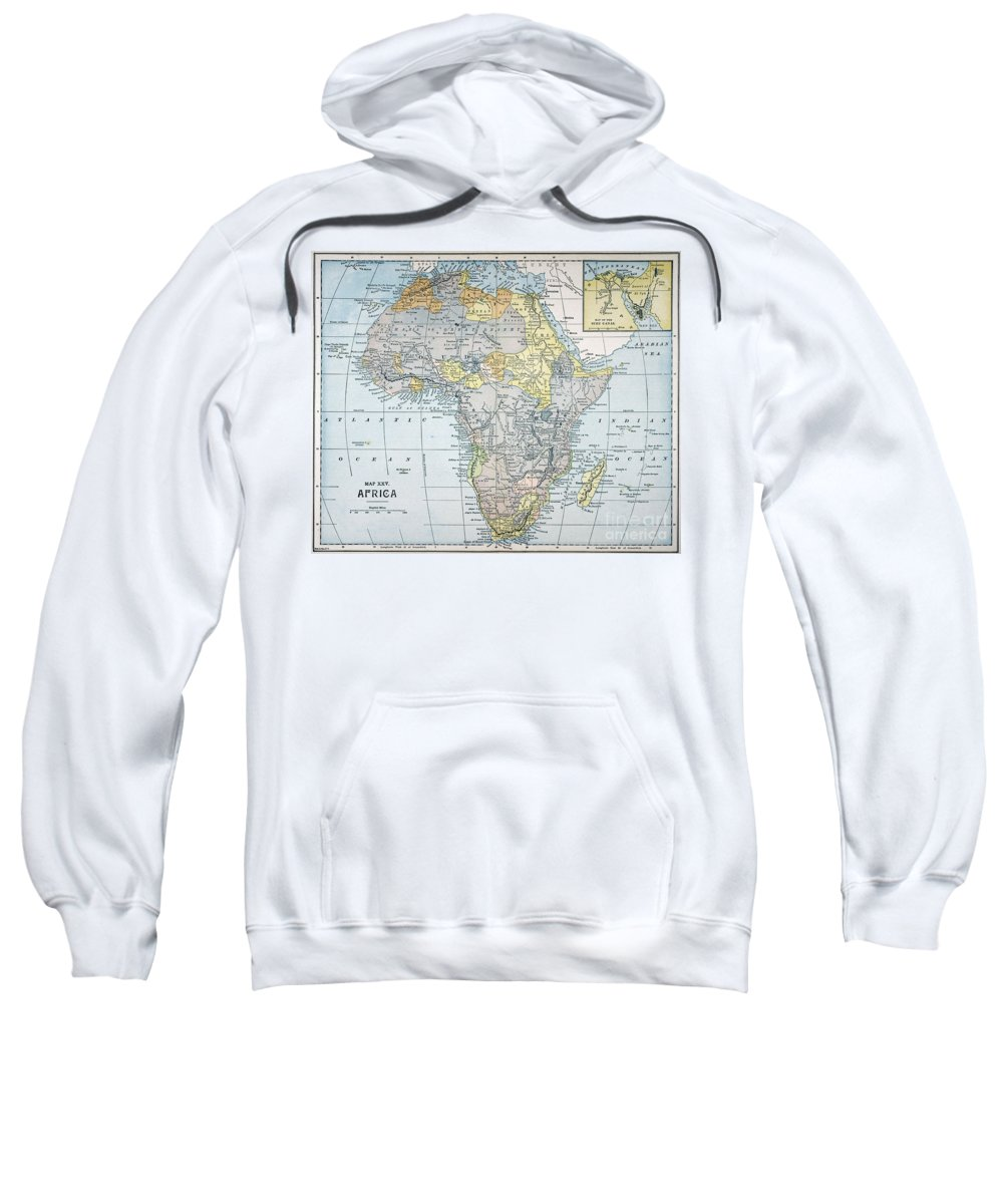 19th Century Sweatshirt featuring the painting Map: Africa, 19th Century by Granger