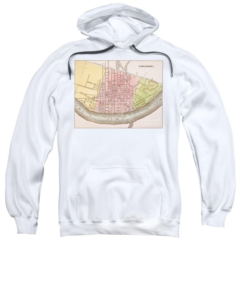 1837 Sweatshirt featuring the painting Cincinnati, Ohio, 1837 by Granger