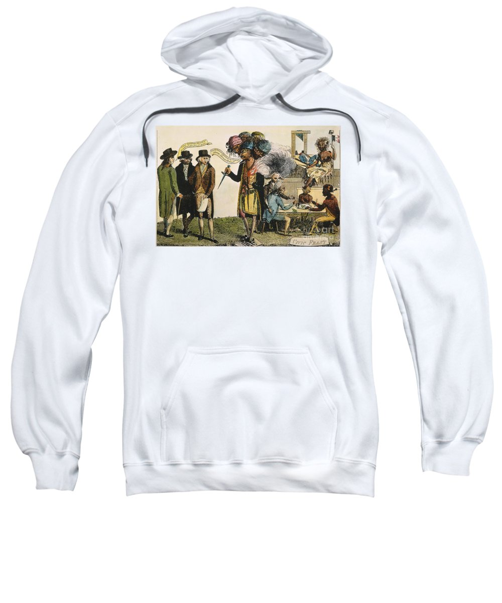 1798 Sweatshirt featuring the painting Cartoon: French War, 1798 by Granger