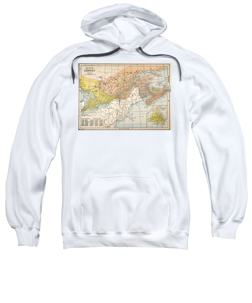 19th Century Sweatshirt featuring the painting Map: Eastern Canada by Granger