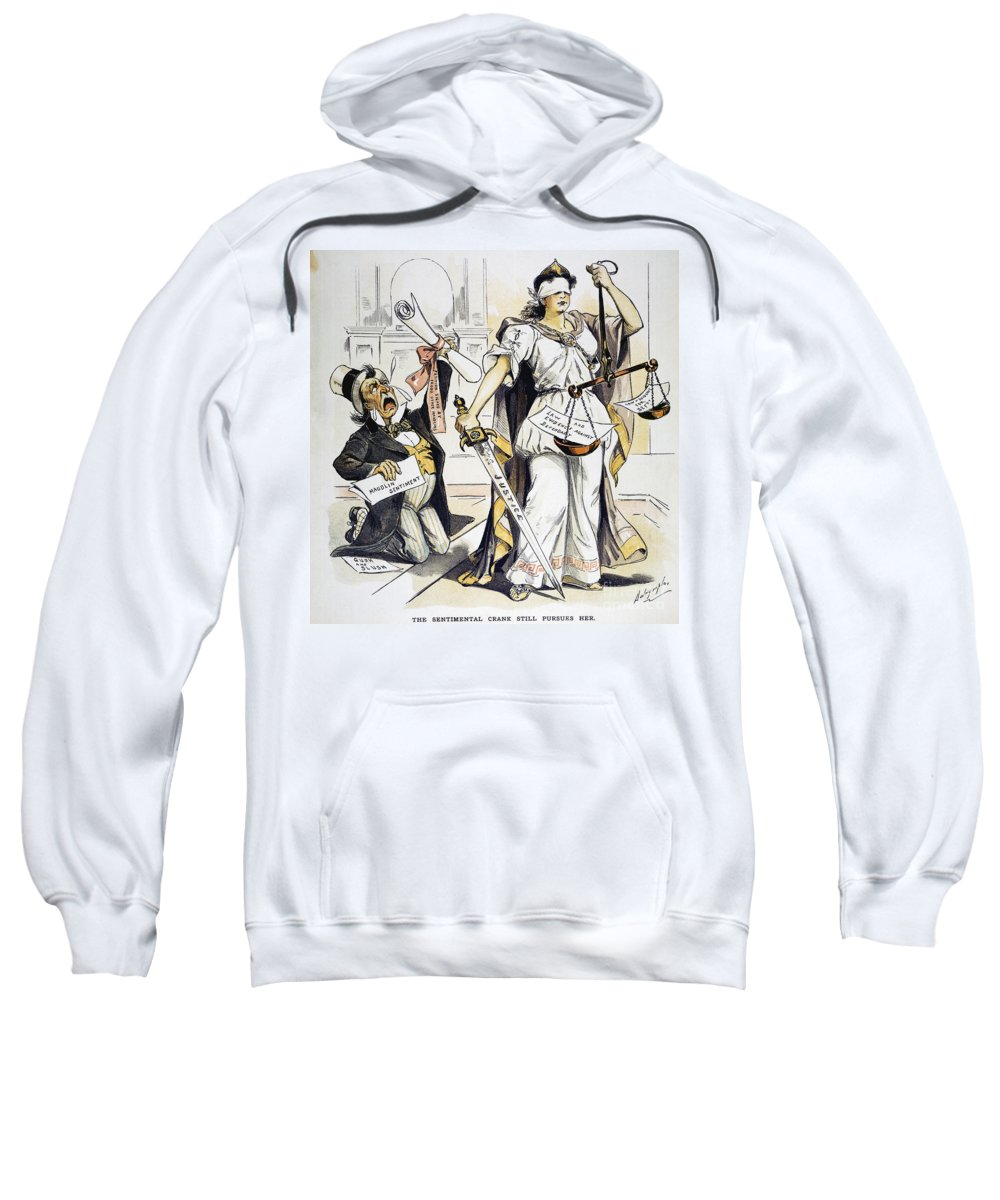 1893 Sweatshirt featuring the painting Justice Cartoon by Granger