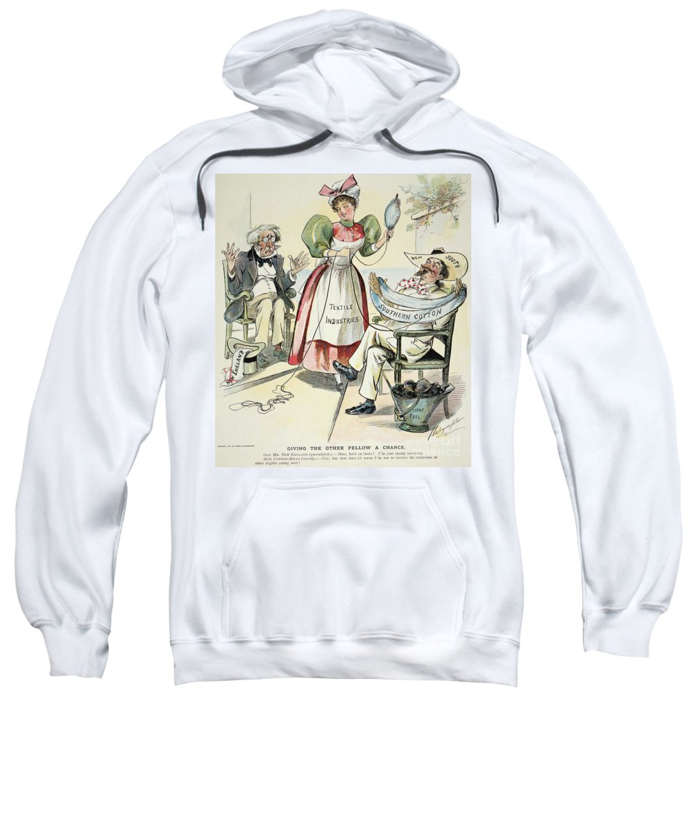 1895 Sweatshirt featuring the painting New South Cartoon, 1895 by Granger