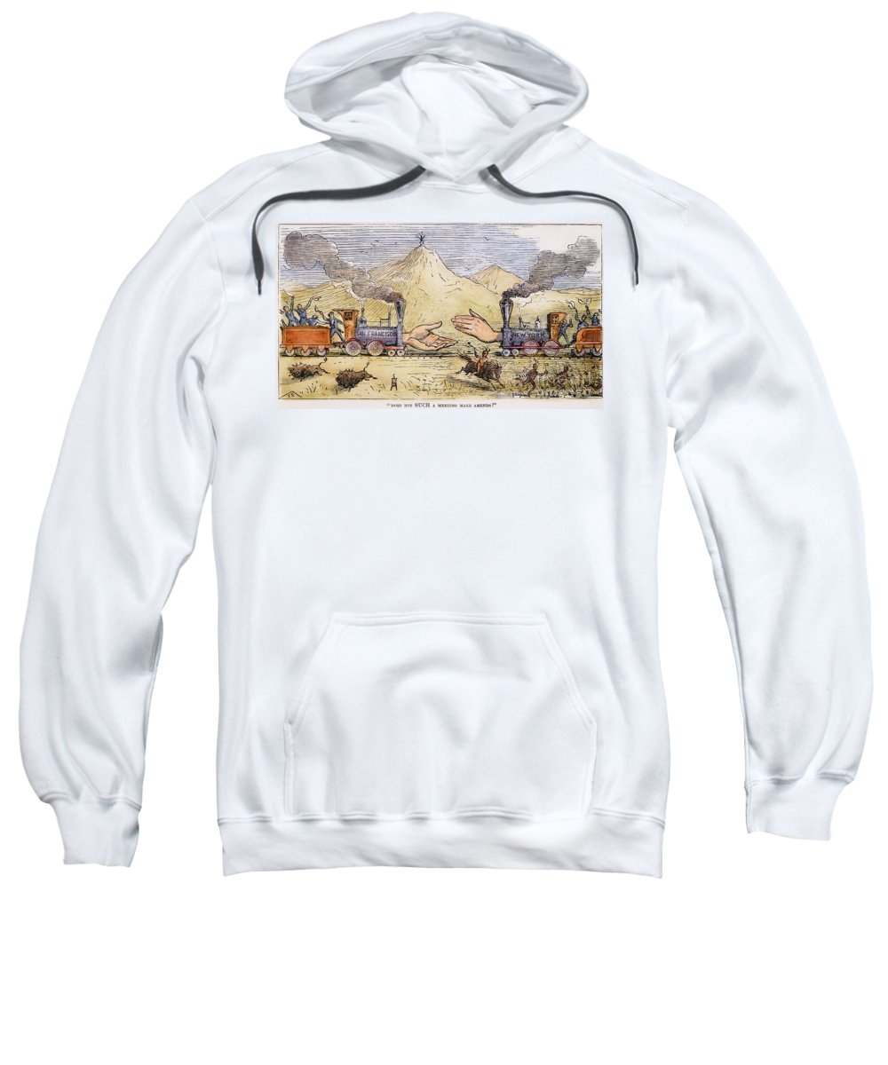 1869 Sweatshirt featuring the painting Promontory Point, 1869 by Granger