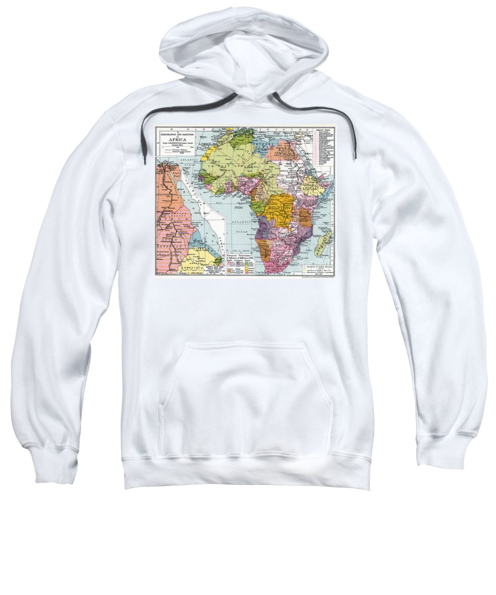 1914 Sweatshirt featuring the painting Partitioned Africa, 1914 by Granger