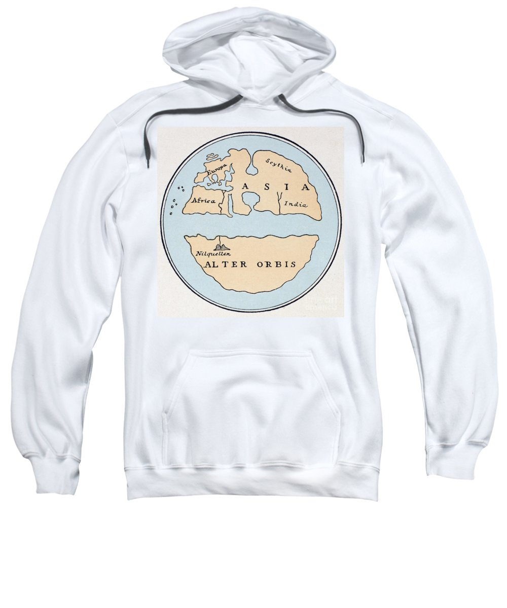1st Century Sweatshirt featuring the painting World Map, 1st Century by Granger