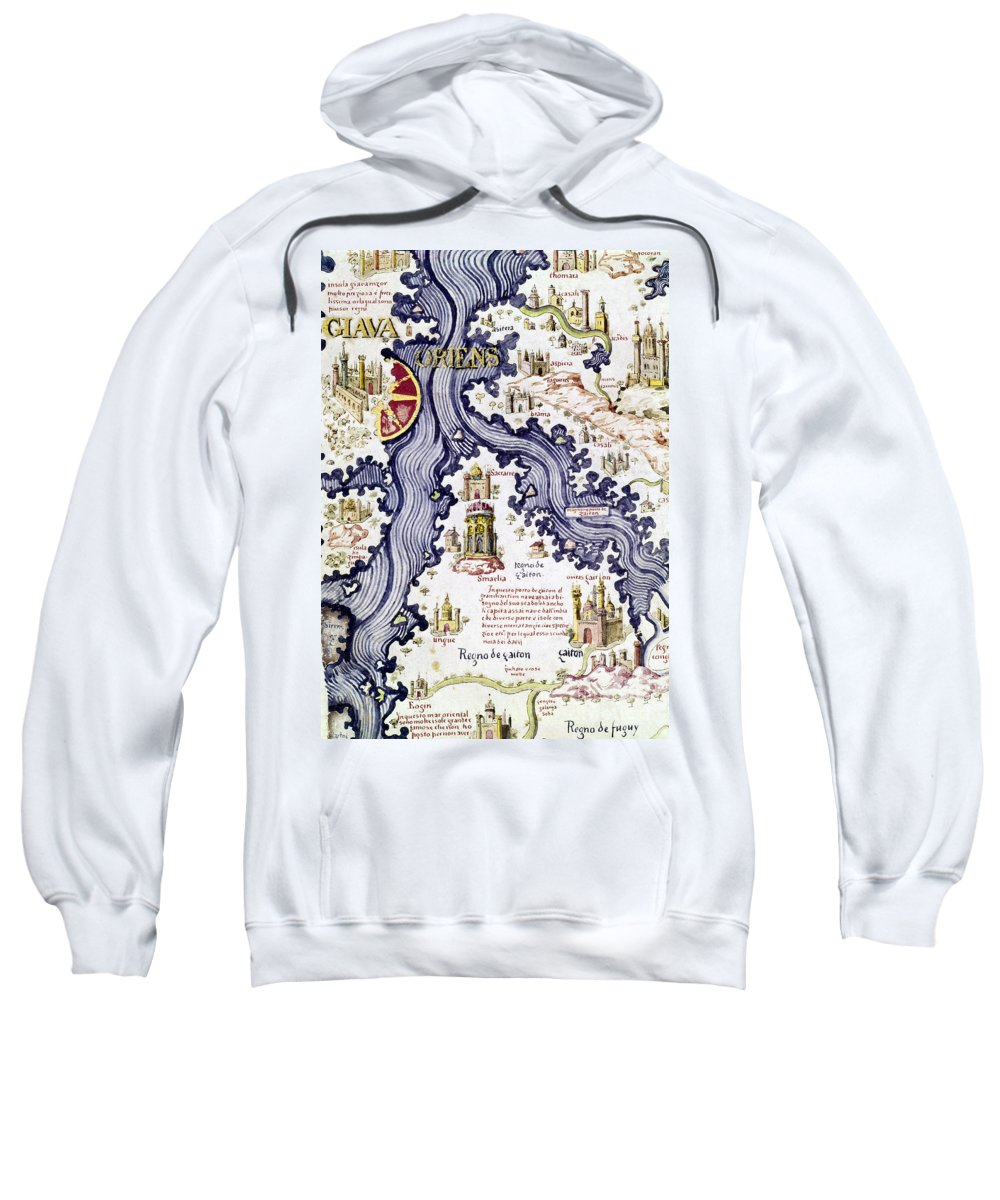 15th Century Sweatshirt featuring the painting Marco Polo (1254-1324) by Granger