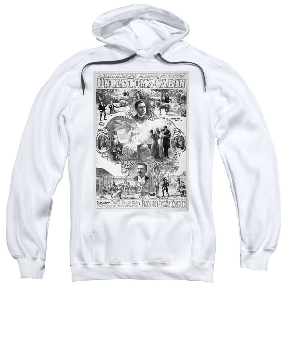 1899 Sweatshirt featuring the painting Uncle Tom's Cabin, C1899 by Granger