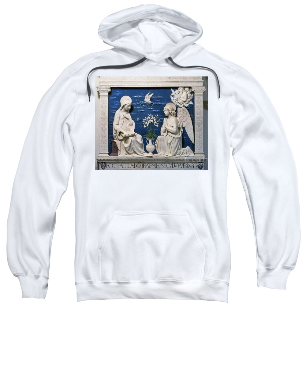 15th Century Sweatshirt featuring the painting Della Robbia: Annunciation by Granger