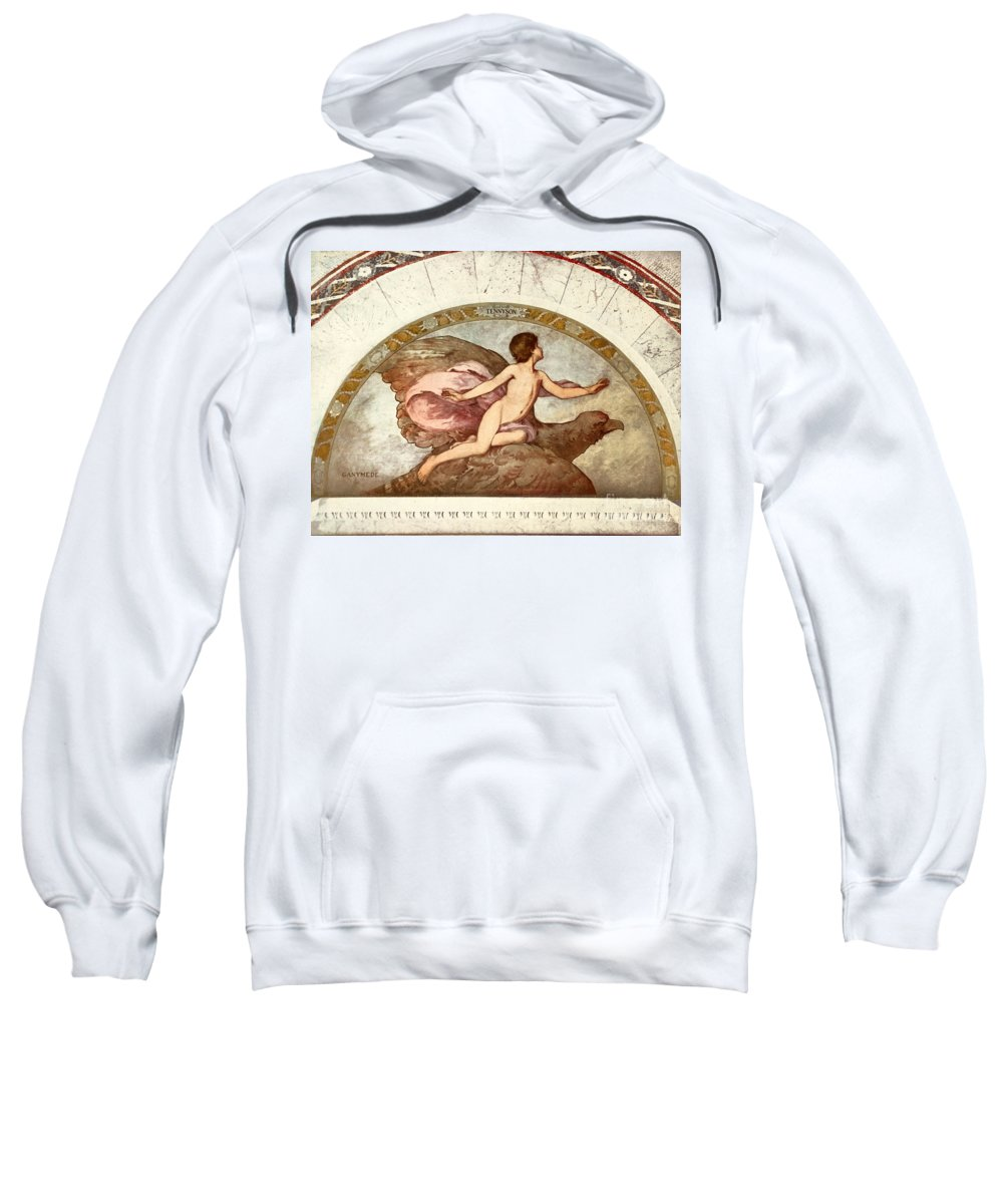 1901 Sweatshirt featuring the painting Ganymede, C1901 - To License For Professional Use Visit Granger.com by Granger