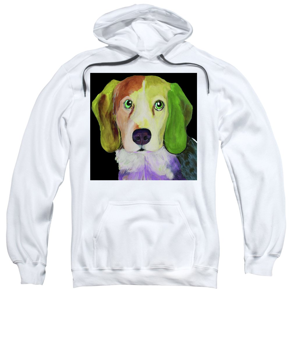 Dogs Sweatshirt featuring the painting 0356 Dog By Nixo by Supreme Inc