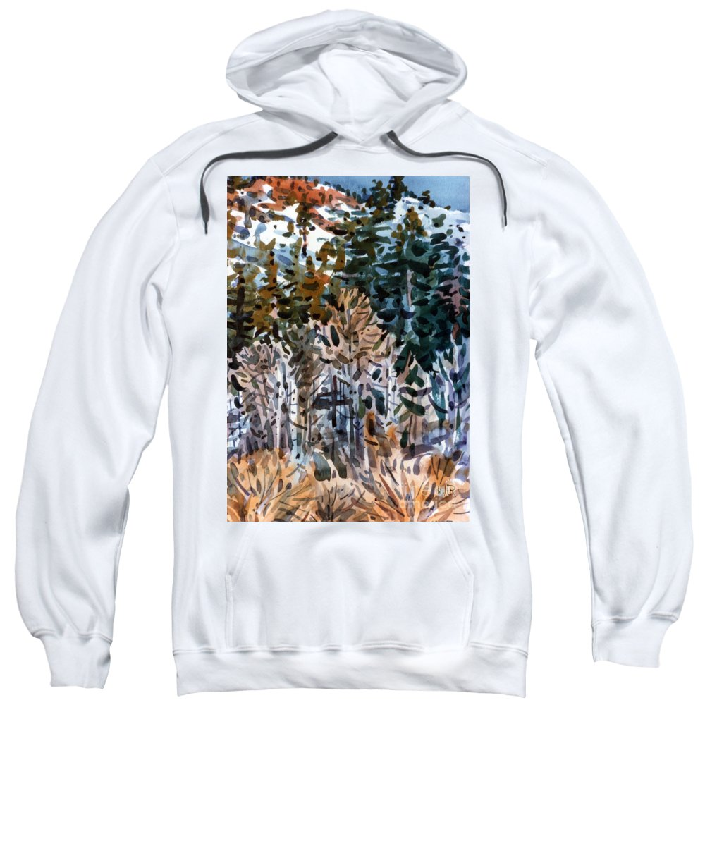 Walker River Sweatshirt featuring the painting Along The Walker River by Donald Maier
