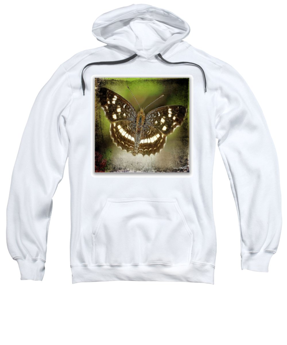 Butterflies Sweatshirt featuring the photograph Ardys Crescent by Ingrid Smith-Johnsen