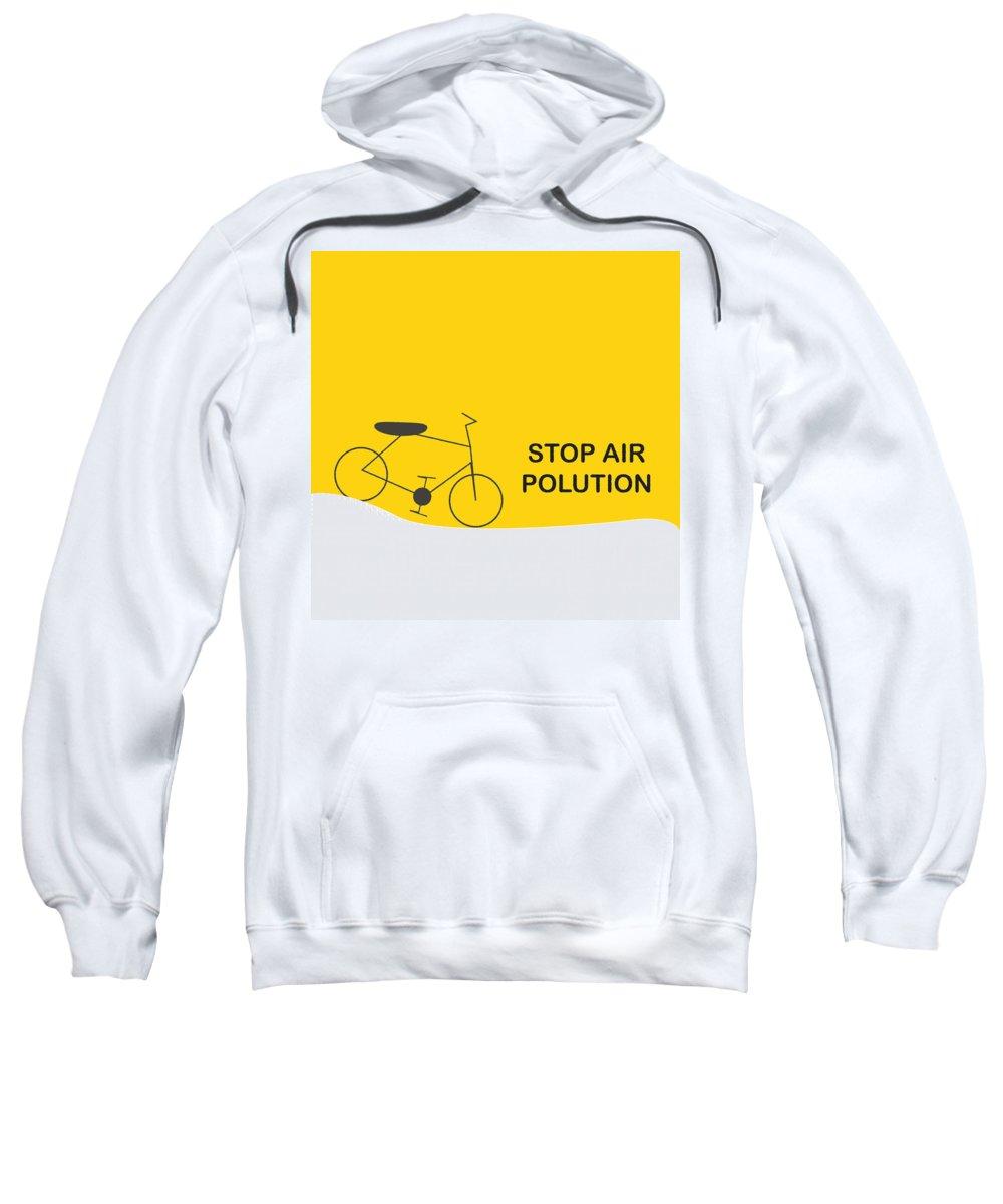 Banner Sweatshirt featuring the digital art Art Work by Sweety Vyas