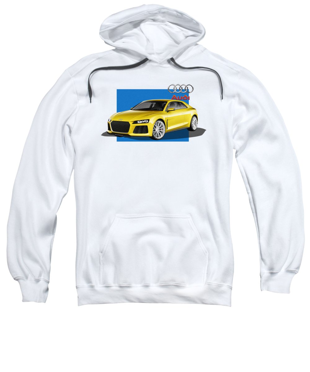 �audi� Collection By Serge Averbukh Sweatshirt featuring the photograph Audi Sport Quattro Concept With 3 D Badge by Serge Averbukh