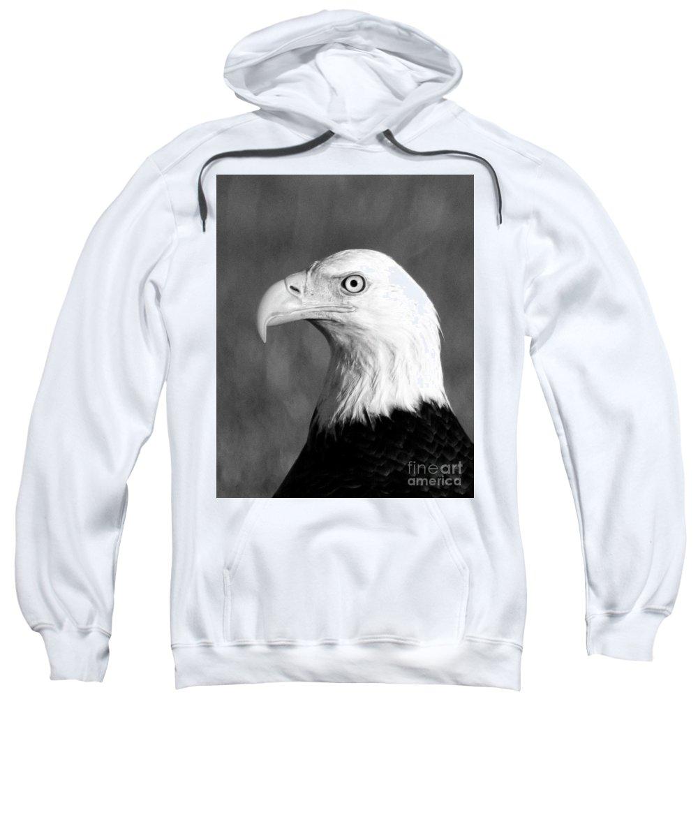 Eagle Sweatshirt featuring the photograph Bald Eagle Portrait by Rodney Cammauf