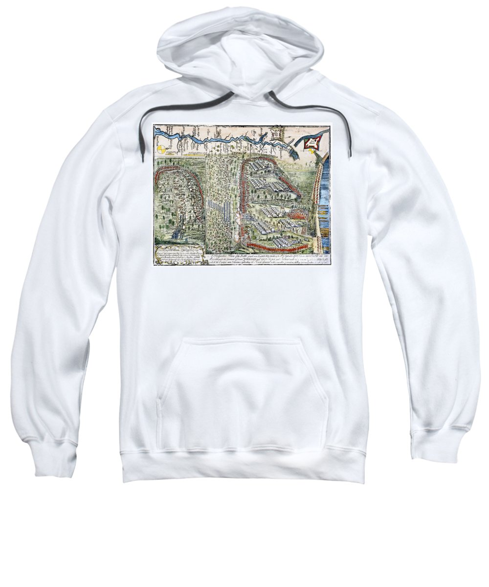 1755 Sweatshirt featuring the photograph Battle Of Lake George, 1755 by Granger