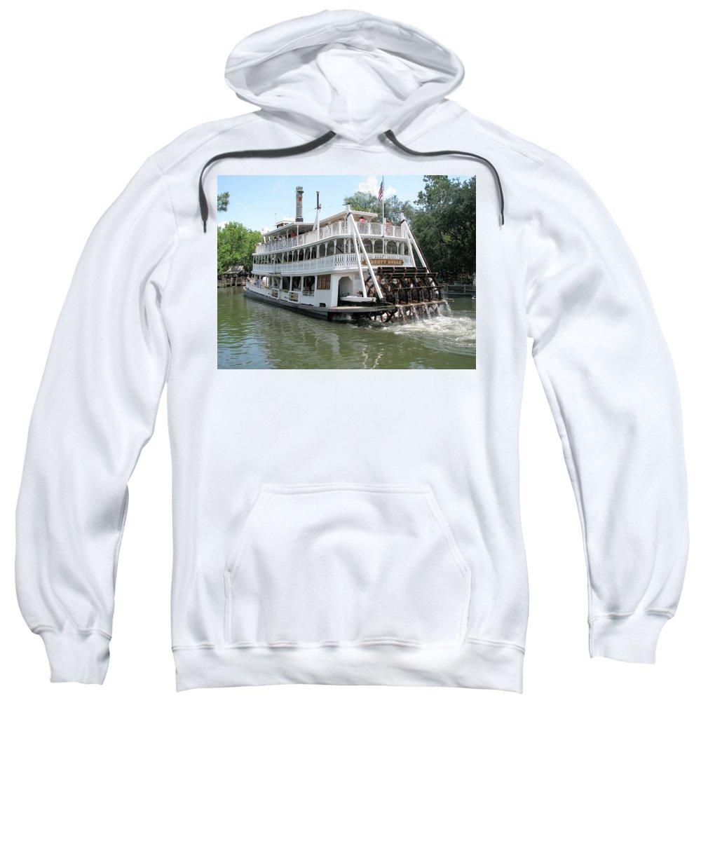 Sweatshirt featuring the photograph Big Wheel Boat by Kiran Kapadia