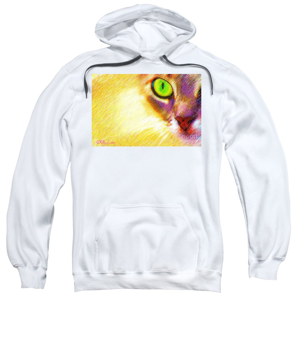 Cat Sweatshirt featuring the photograph Bink by Donna Bentley
