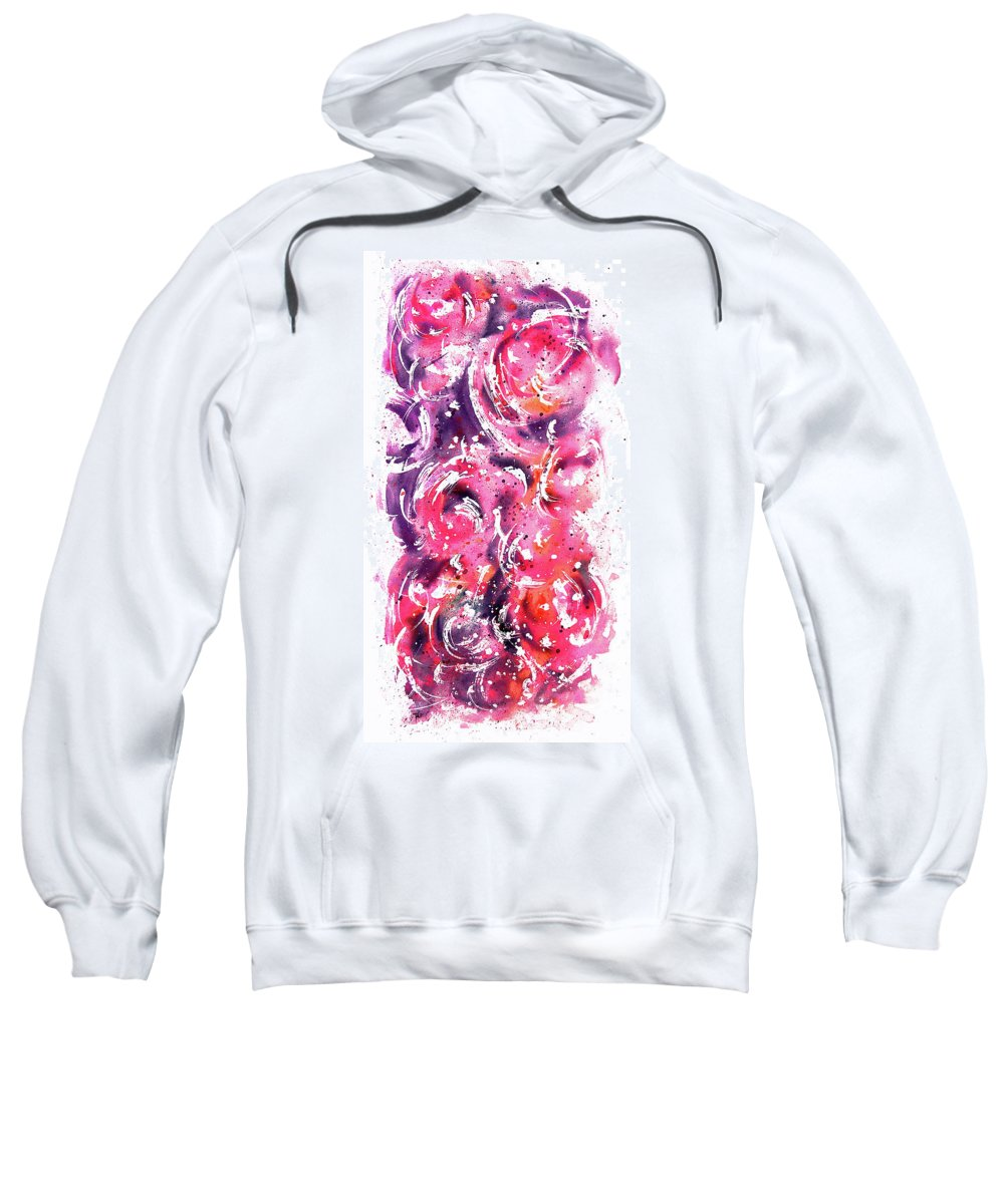 Abstract Sweatshirt featuring the painting Bubbles by William Russell Nowicki