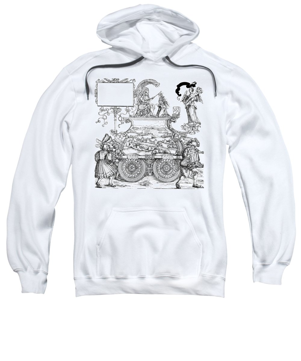 16th Century Sweatshirt featuring the drawing Burgkmair - Maximilian by Granger