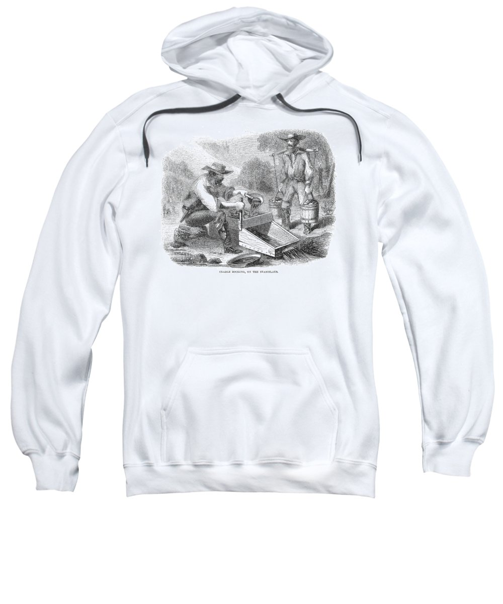 1850s Sweatshirt featuring the photograph California Gold Rush, 1860 by Granger