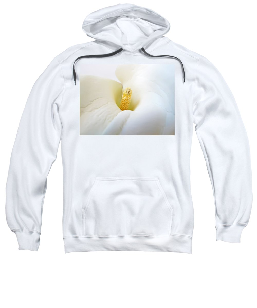 Flower Sweatshirt featuring the photograph Calla by Daniel Csoka