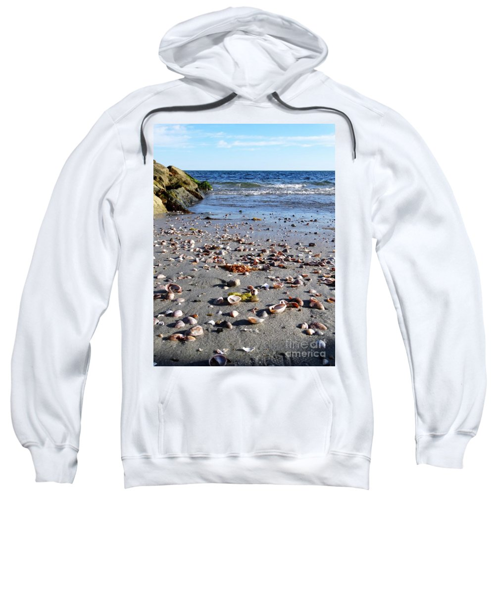 Beach Sweatshirt featuring the photograph Cape Cod Beach Finds by Gina Sullivan