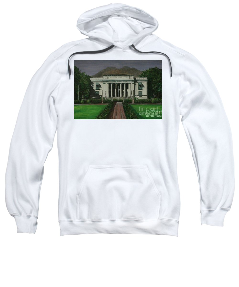 Dumaguete Sweatshirt featuring the painting Capitol Building Negros Oriental by Richard John Holden RA