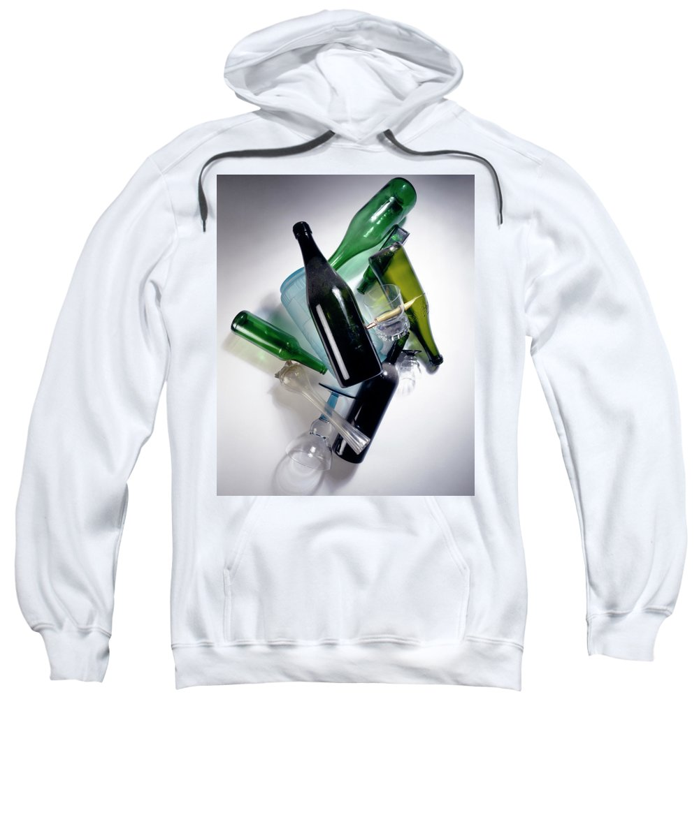 Composition Sweatshirt featuring the photograph Cascade by Stefania Levi