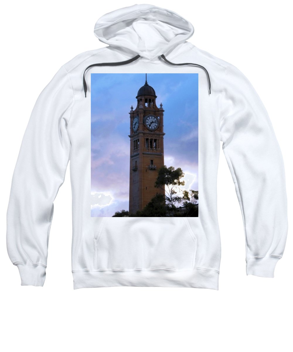 Clock Sweatshirt featuring the photograph Clock Tower by Tania Read