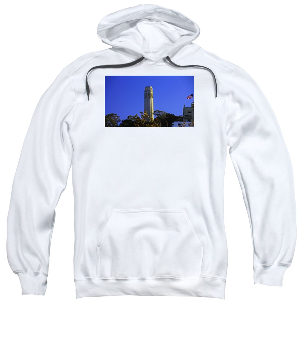 Coit Tower Sweatshirt featuring the photograph Coit Tower by Michiale Schneider