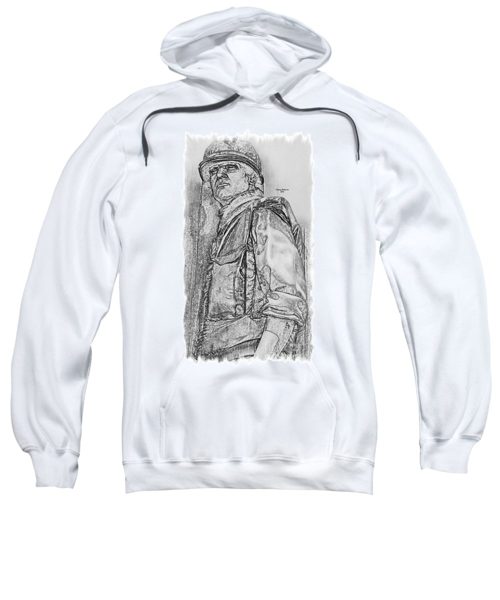 Usaf Sweatshirt featuring the digital art Combat Airman by Tommy Anderson