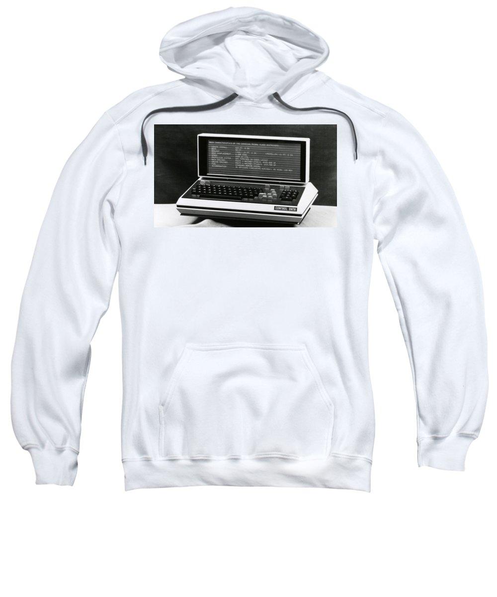 Computer Sweatshirt featuring the digital art Computer by Bert Mailer