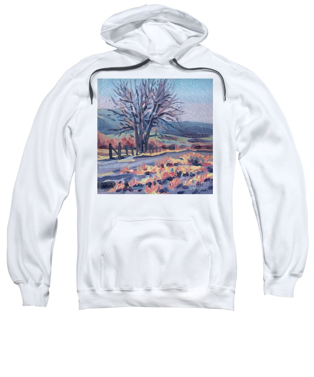 Road Sweatshirt featuring the painting Country Road by Donald Maier