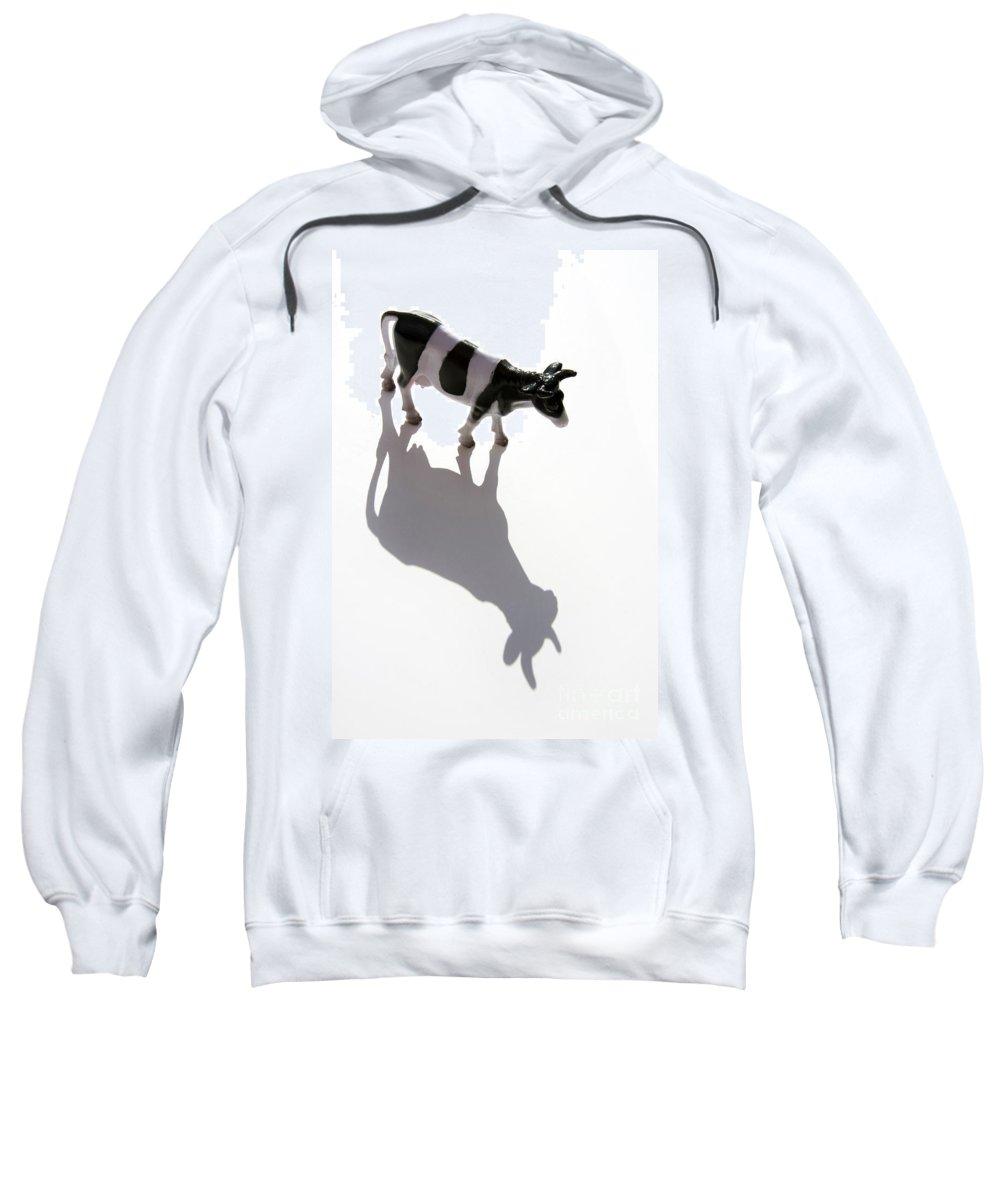 Animal Sweatshirt featuring the photograph Cow Figurine by Bernard Jaubert