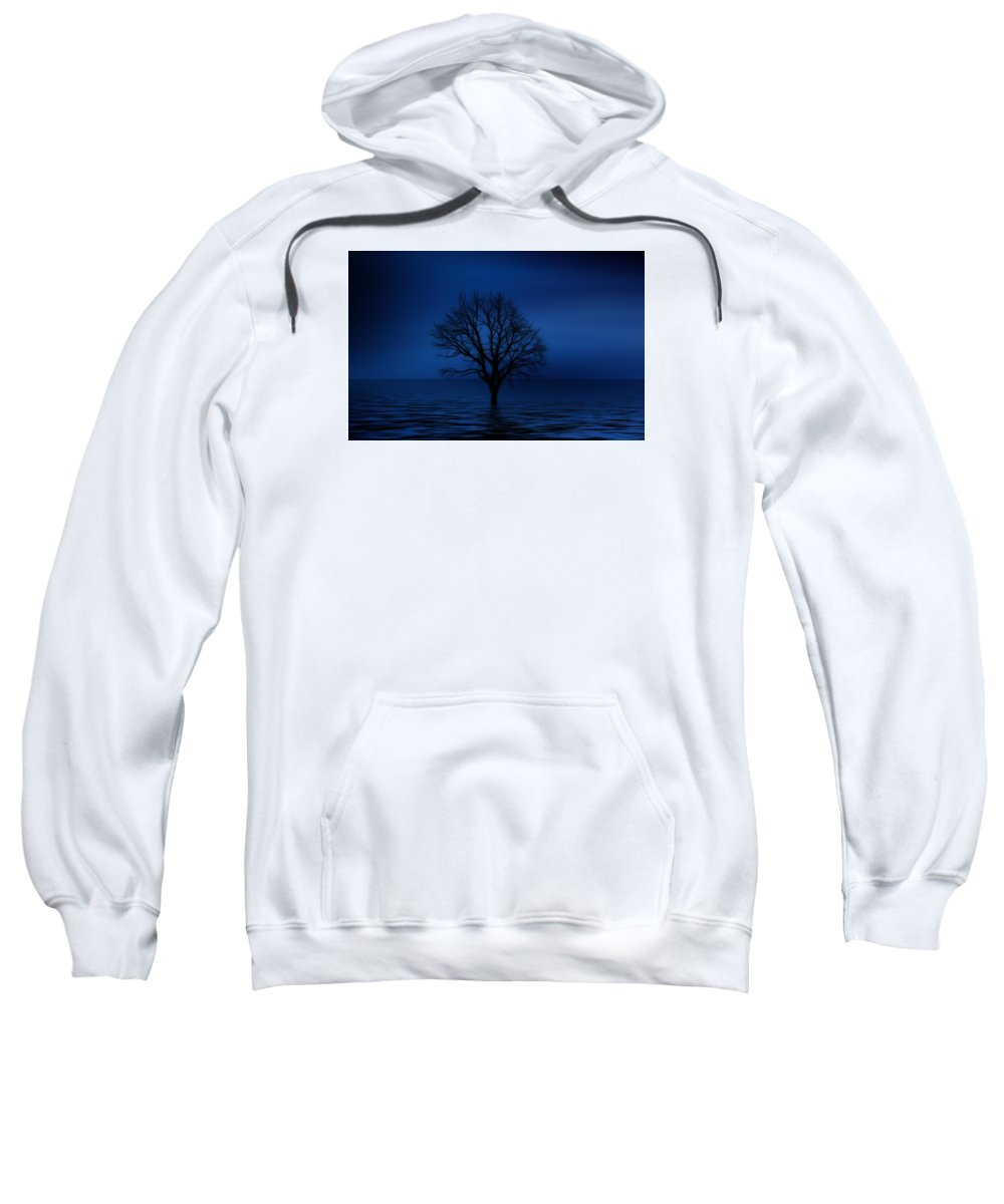 Fl Collectiontrees Sweatshirt featuring the digital art Dark Tree by FL collection