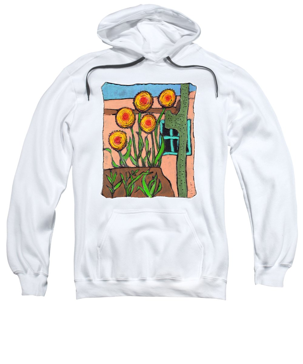 Desert Sweatshirt featuring the painting Desert Fantasy by Wayne Potrafka