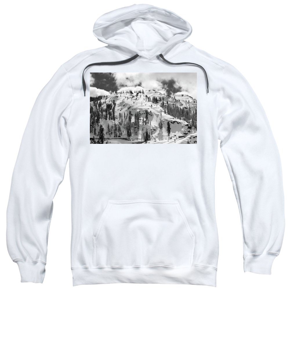 Donner Summit Sweatshirt featuring the photograph Donner Summit by Jim Thompson