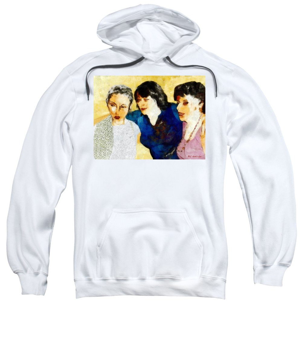 Characters Sweatshirt featuring the painting Eastwick Revisited by RC DeWinter