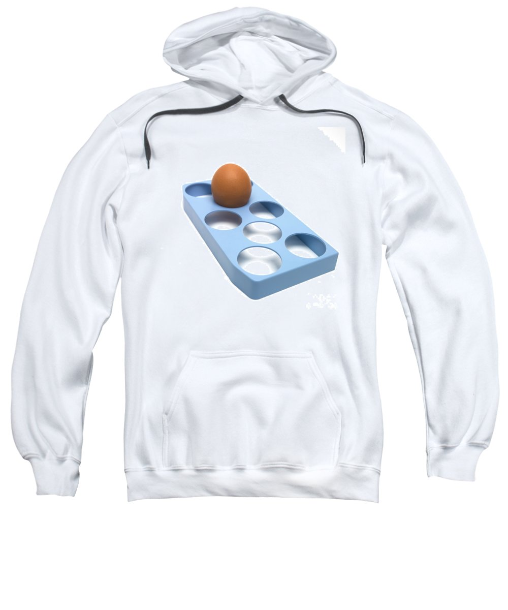 Studio Shot Sweatshirt featuring the photograph Egg by Bernard Jaubert