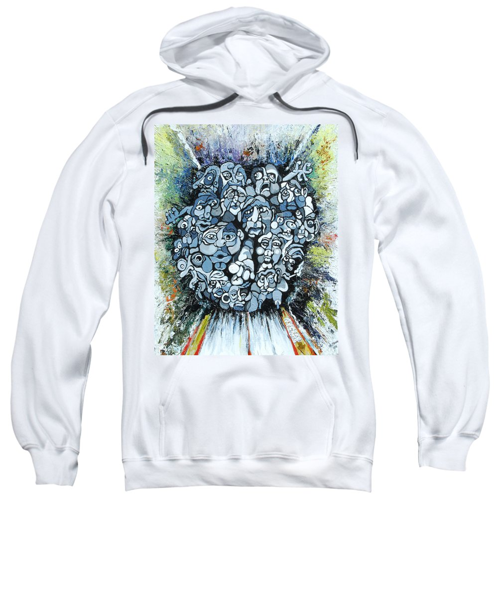 Surreal Sweatshirt featuring the painting Elevator by Julie Fischer