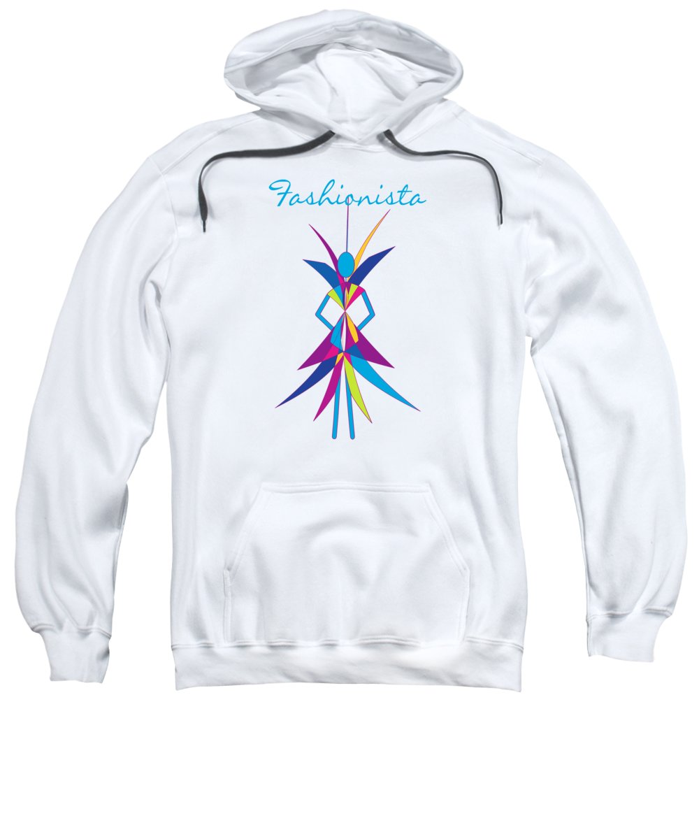 Fashionista Sweatshirt featuring the digital art Fashionista by Methune Hively
