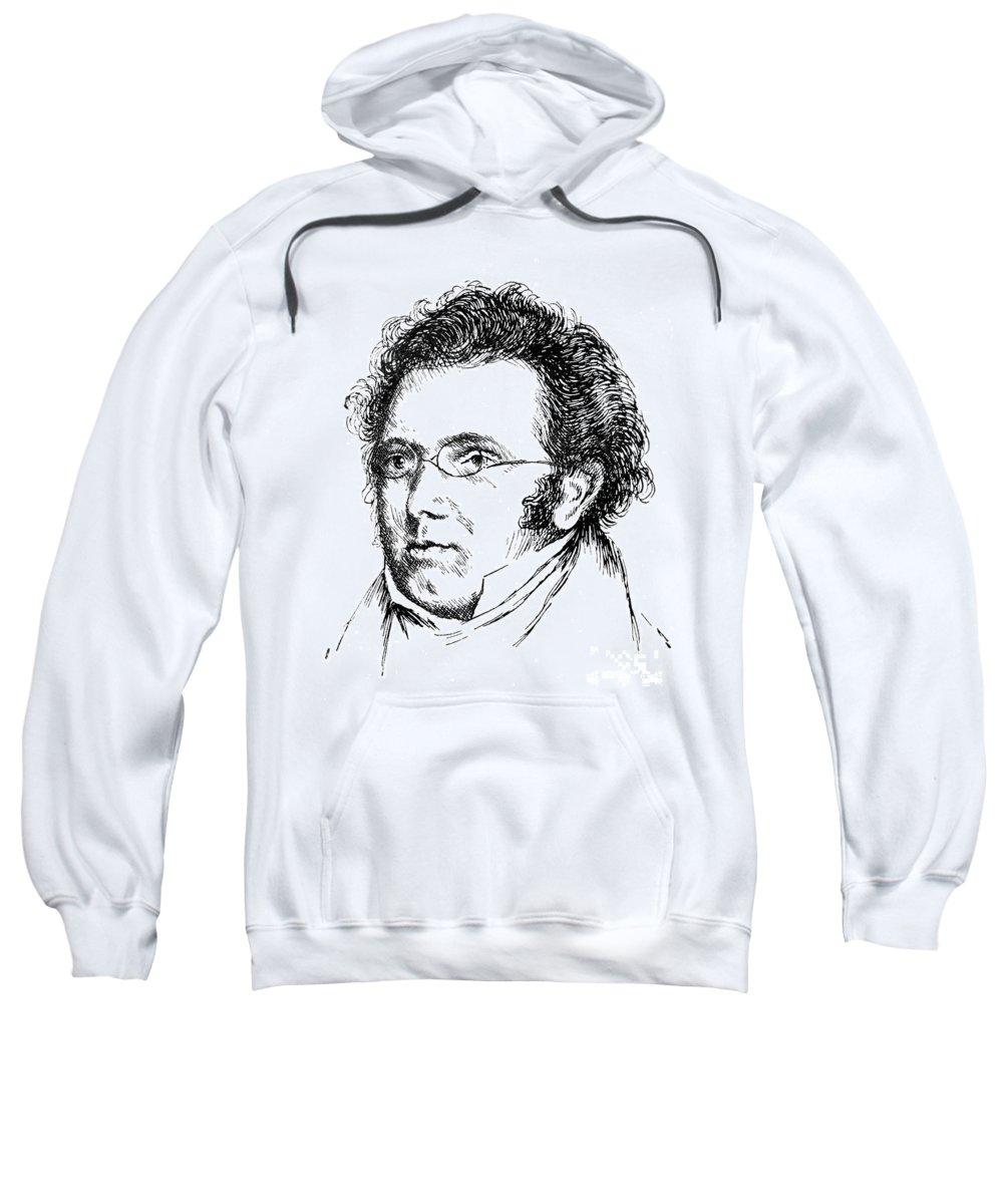 18th Century Sweatshirt featuring the photograph Franz Schubert (1797-1828) by Granger