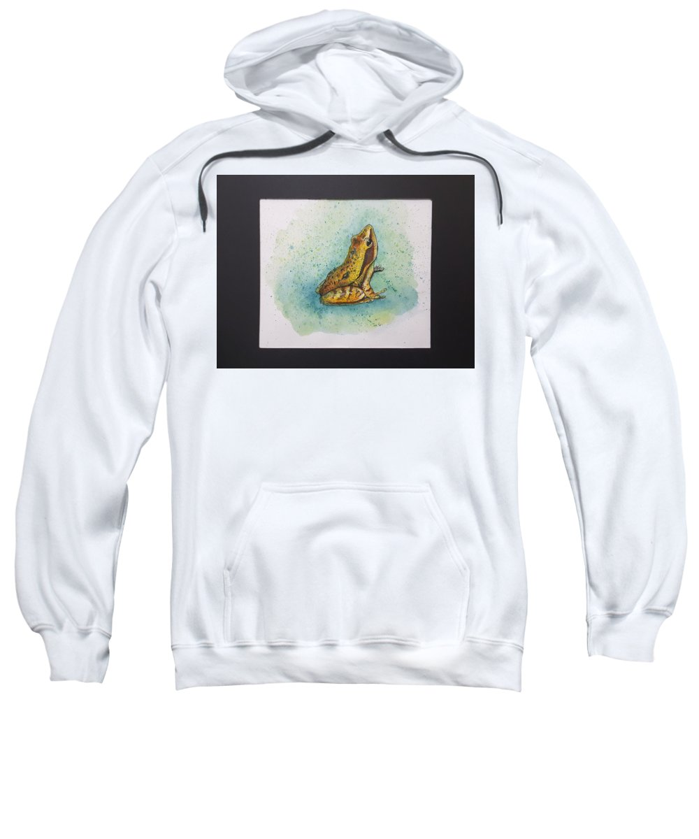 Frogs Sweatshirt featuring the painting Frogs Of Borneo Ll by Tan Lan Ching