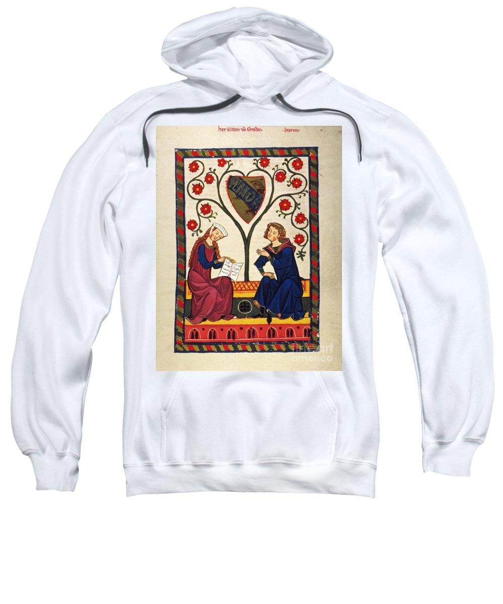 14th Century Sweatshirt featuring the photograph German Minnesinger 14th C by Granger
