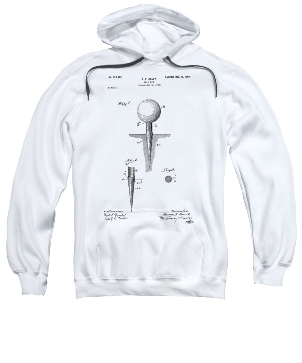 Golf Sweatshirt featuring the photograph Golf Tee Patent 1899 by Chris Smith