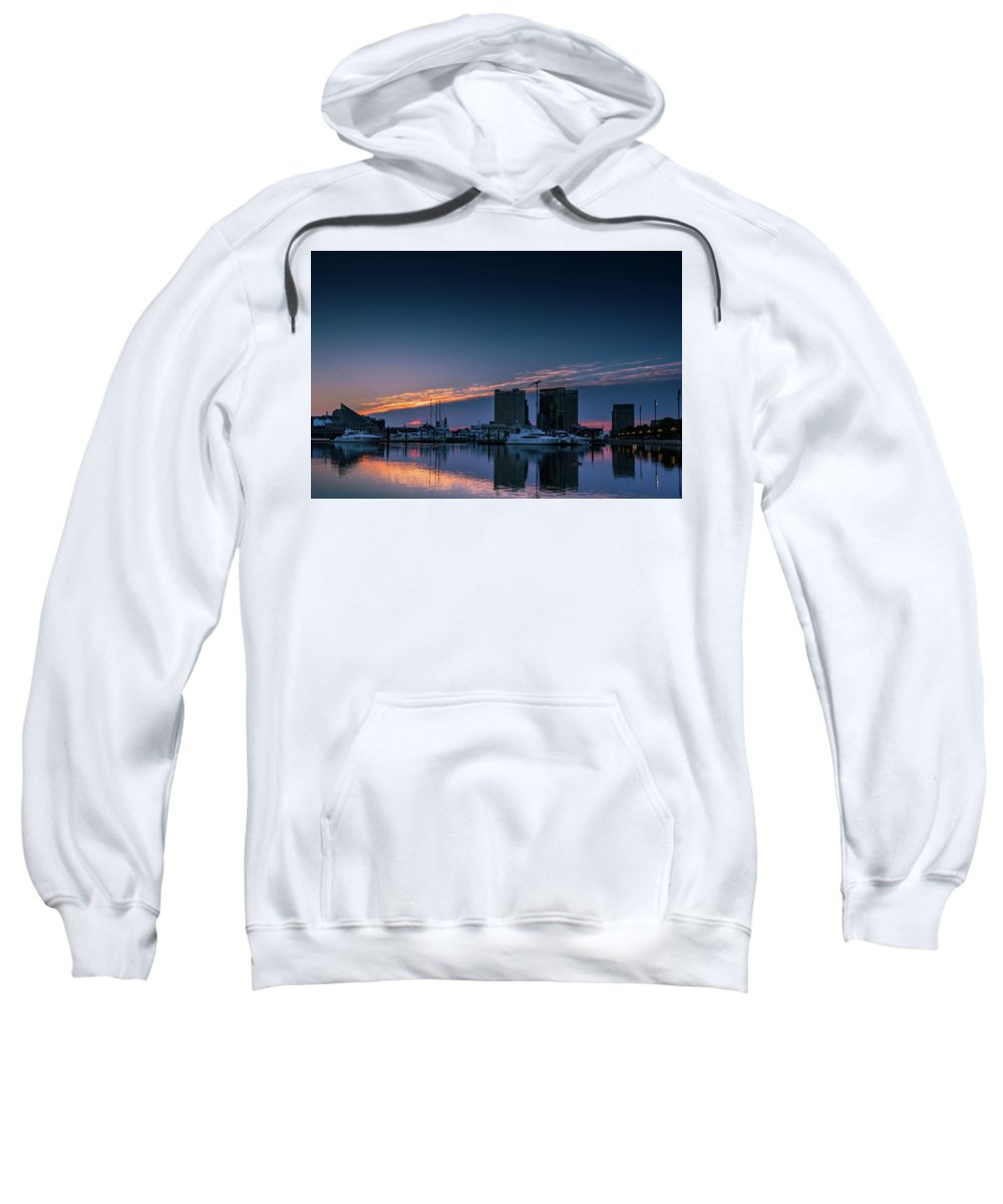 Baltimore Sweatshirt featuring the photograph Harbor Light by Jim Archer
