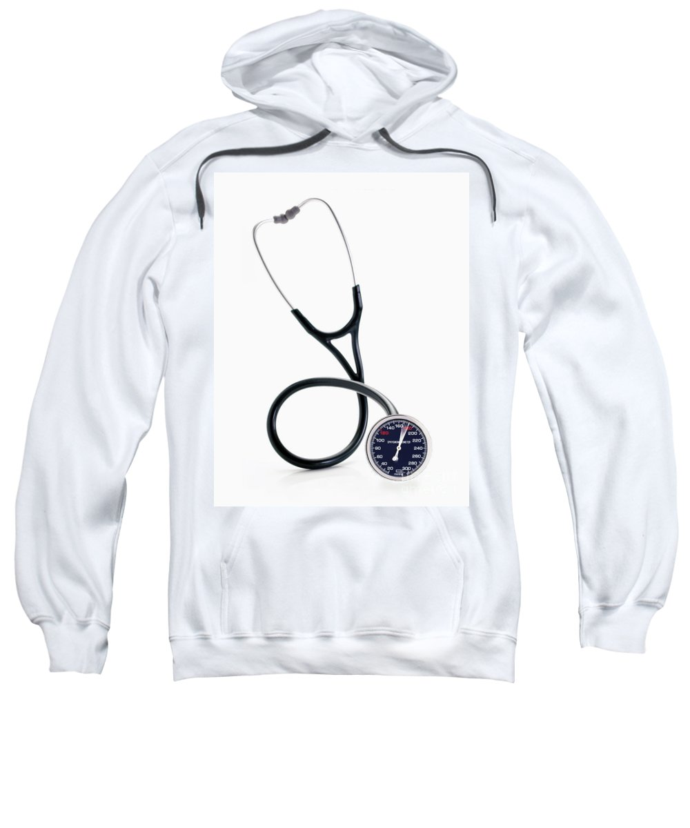 Medicine Sweatshirt featuring the photograph High Blood Pressure by George Mattei
