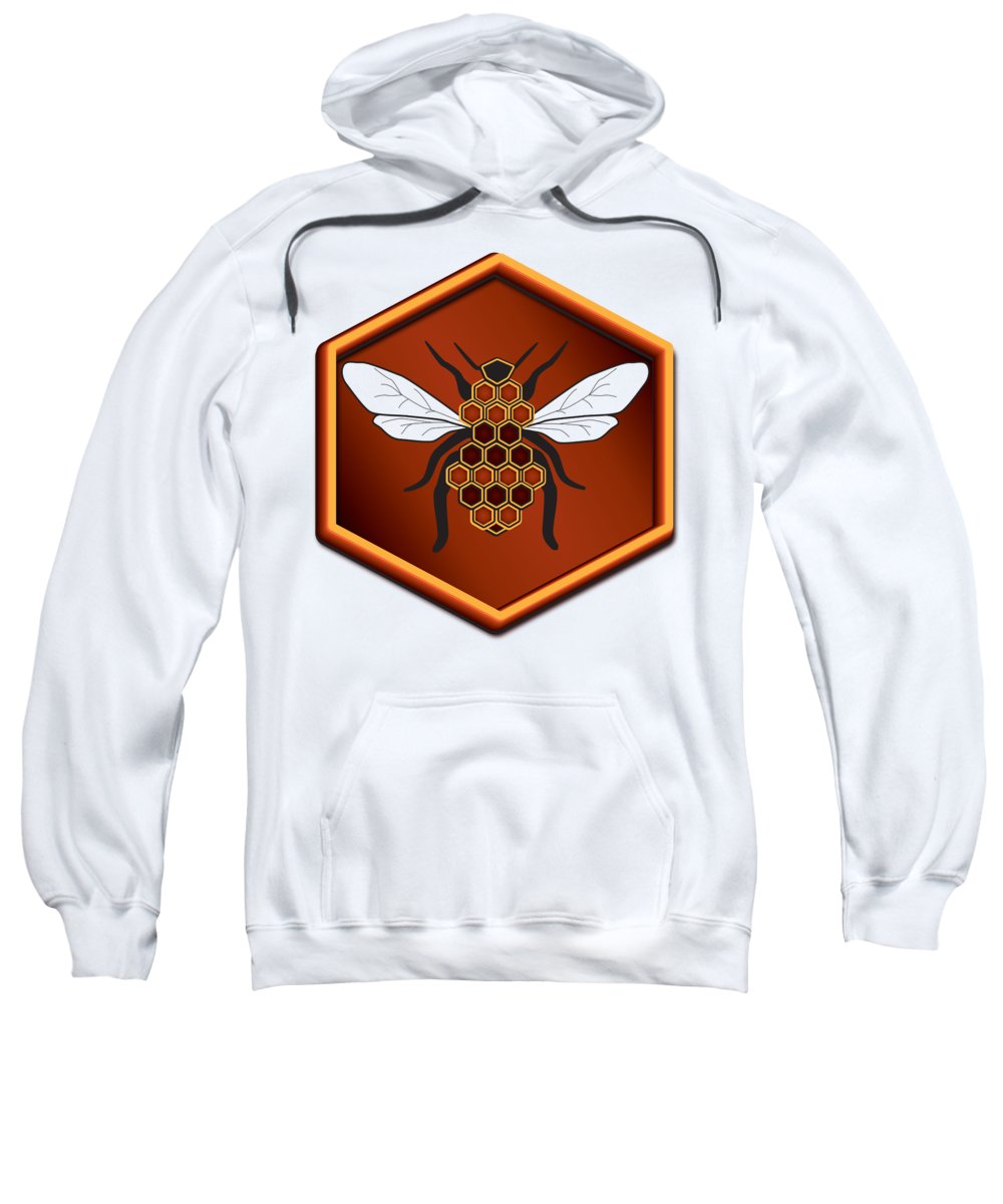 Cartoon Sweatshirt featuring the digital art Honeycomb Bee by Pelo Blanco Photo