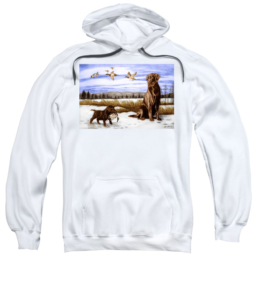 In Training Sweatshirt featuring the drawing In Training by Peter Piatt